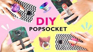 4 DIY POPSOCKET e SUPORTE de dedos para CELULAR - Como fazer fácil - Capinhas personalizadas
