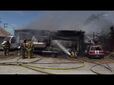 Chula Vista: Garage & House Fire 04262017