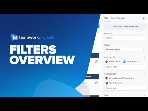 Teamwork Projects - Filters Overview