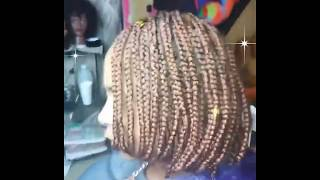 Medium sized Feed in Braid Bob