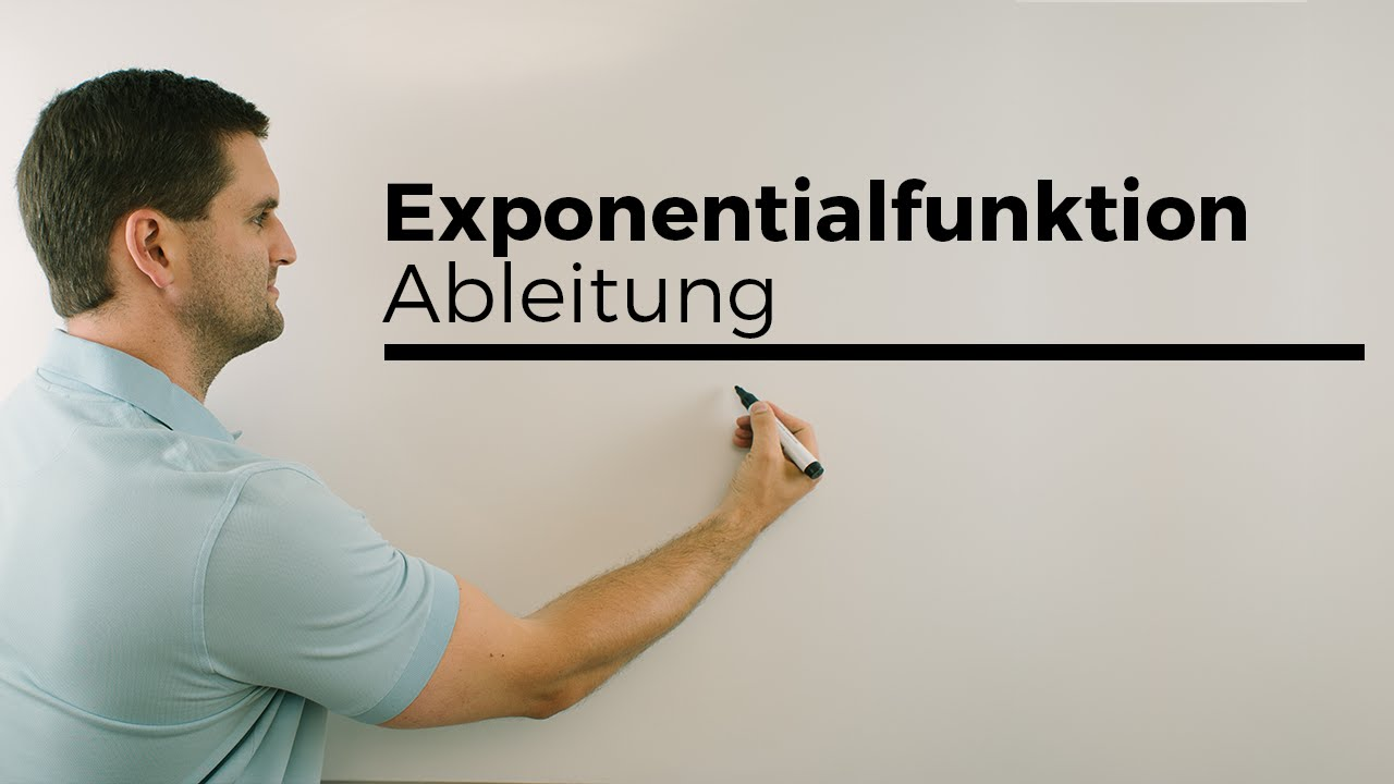 exponentialfunktion ableitung ableiten e hoch x e funktion mathe by daniel jung youtube. Black Bedroom Furniture Sets. Home Design Ideas