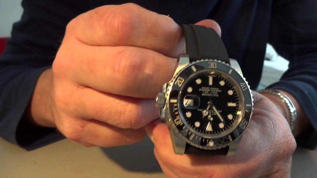 Oysterflex On Rolex Submariner 116610 Ln Youtube
