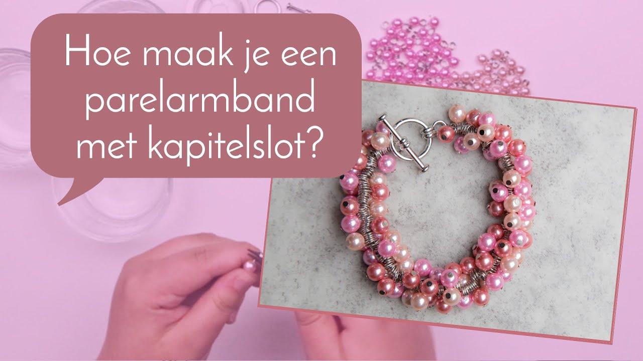 0c2cc387cc1 Sieraden maken met Kralenwinkel Online - Dubbeldikke armband met parels  maken