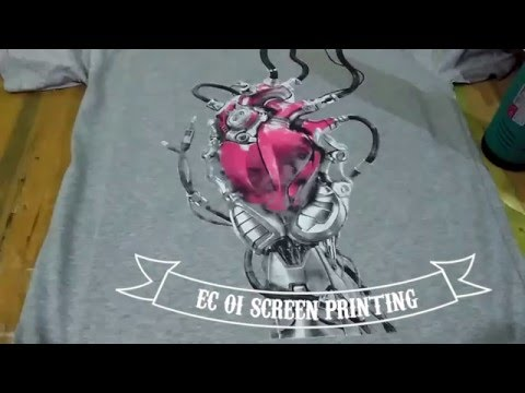 screen printing simulated color process water base ink