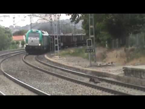 "(335 con letrero ""Madrid - Yiwu train"") Chatarrero Tfsa. Rail Leandro - Vallecas por El Escorial"