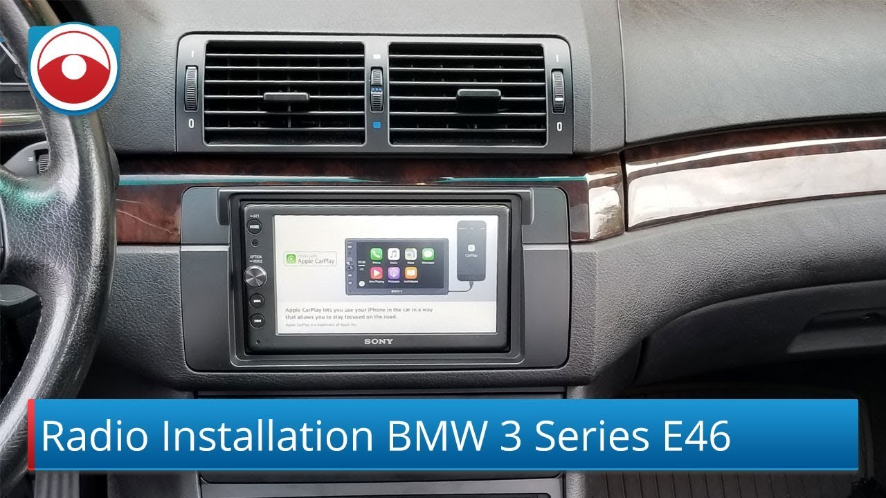 bmw 3 series 99 06 radio installation sony xav ax100 [ 1280 x 720 Pixel ]