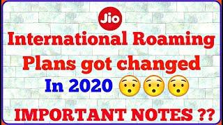 Jio International Roaming Pack In 2020 | Jio IR Plans Changed In 2020 Hindi | Jio IR Pack Got Change