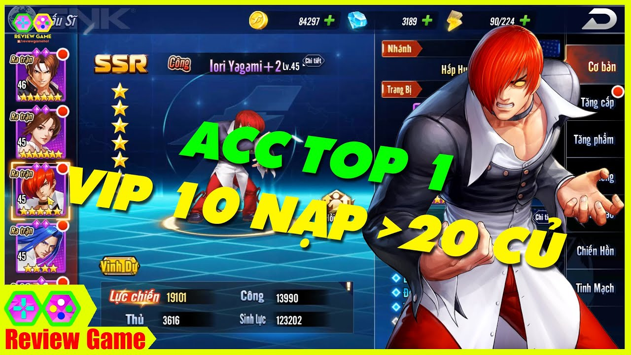 KOF AllStar: Quyền Vương Chiến - ACC TOP 1 VIP 11 Nạp Hơn 20 Củ 170K Lực Chiến Cực Bá Đạo