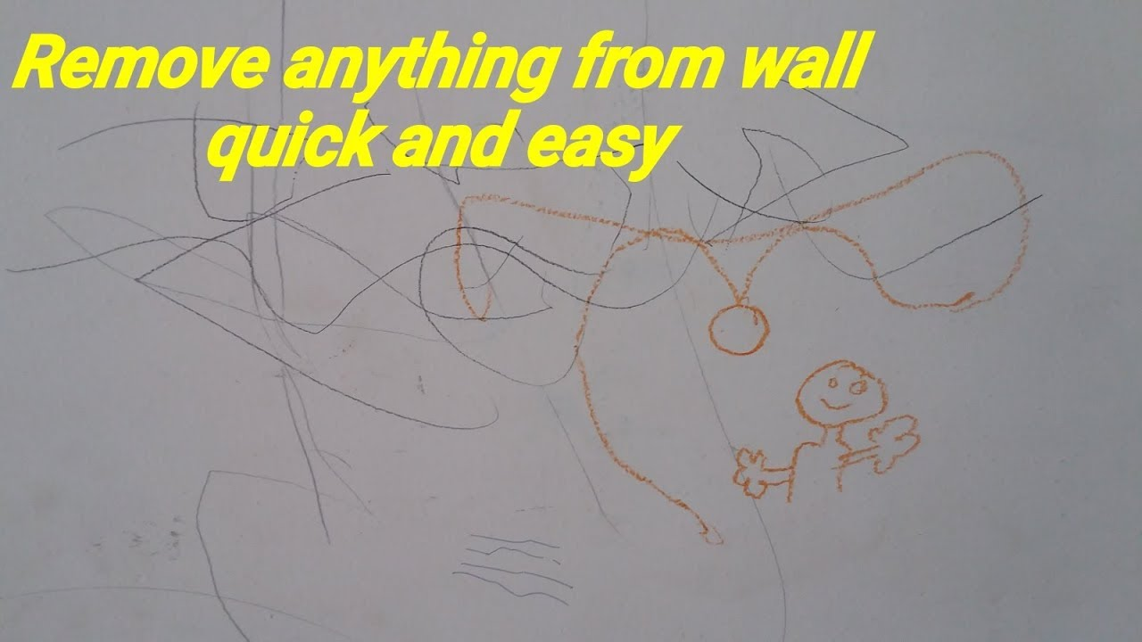 how to remove pencil marks on walls