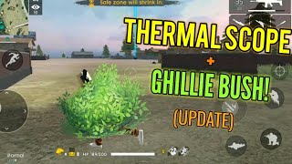 THERMAL SCOPE AND GHILLIE BUSH! (Update) + Giveaway Winners - Garena Free Fire