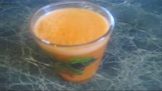 Яблочно морковный сок на соковыжималке Журавинка