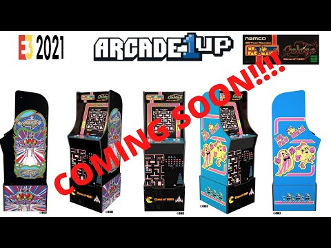 Arcade1up: Ms. Pac-man and Galaga 1981 Cabinet In Depth Look! Coming soon! #e32021 from PsykoGamer