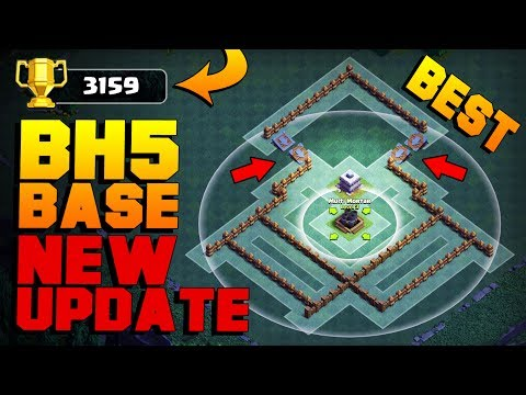 BEST Builder Hall 5 Base After NEW ROASTER, NIGHT WITCH UPDATE! | CoC BH5 Base | Clash of Clans