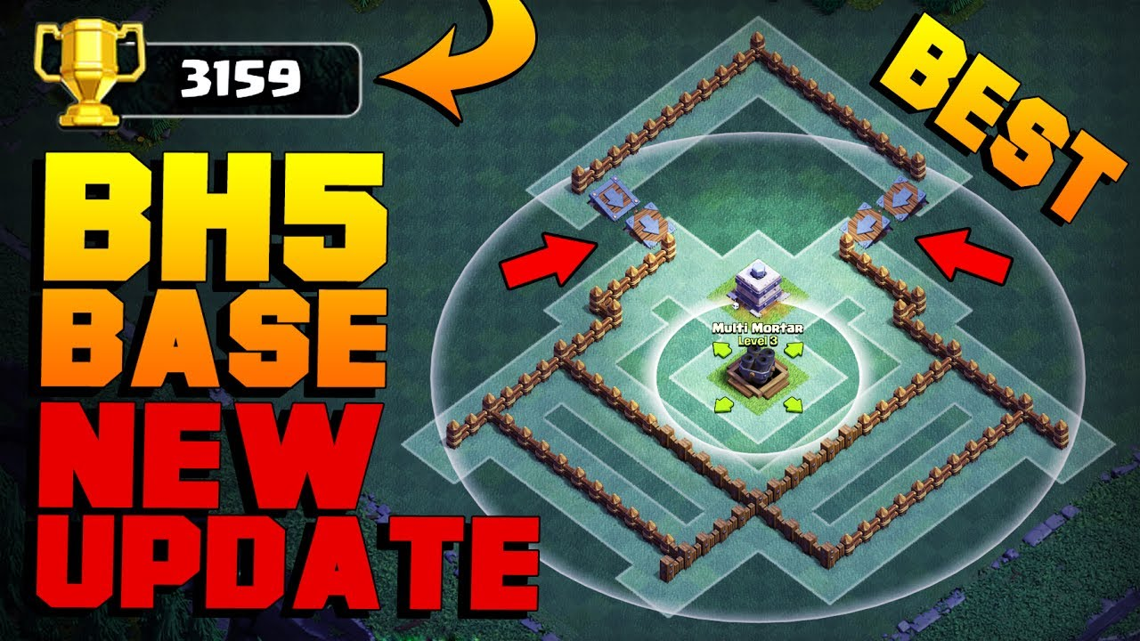 Best Builder Hall 5 Base After New Roaster Night Witch