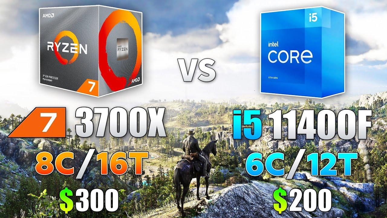 Ryzen 7 3700X vs Core i5 11400F Test in 8 Games
