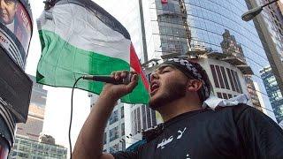 """紐約千人參與""""聖城日""""遊行呼籲加沙和平"""