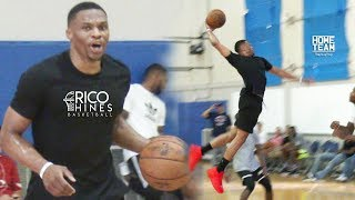 Russell Westbrook, Darren Collison, Dante Exum, Stanley Johnson at Rico Hines UCLA Run!