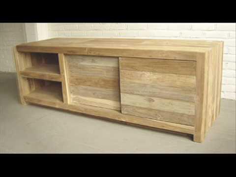 Tv dressoir sloop teak hout cc series sloophout meubel for Sloophout meubels