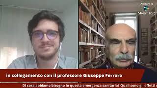 Giustizia, amore, violenza e memoria ai tempi della pandemia - Intervista a Giuseppe Ferraro