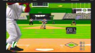 World Series Baseball (Video Game) 1995 Mariners vs Athletics