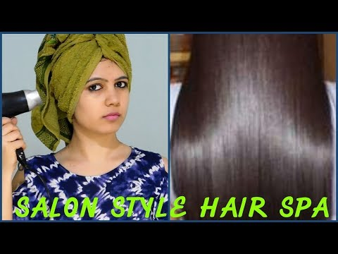 how to do salon style Hair Spa At Home for silky shiny straight hair| ||TipsToTop By Shalini