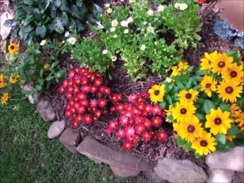 видео: Маленький цветник - Ландшафтный дизайн своими руками