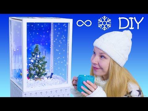 DIY Giant Mechanical Snow Globe (Snow Cube) – How To Make A Snow Globe With Continual Snowfall