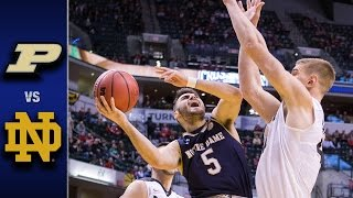 Notre Dame vs. Purdue Men's Basketball Highlights (2016-17)