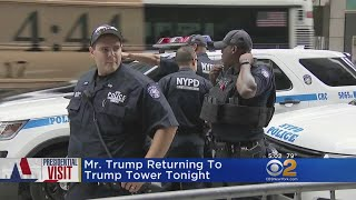 Security Stepped Up As Trump Returns To New York