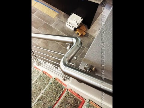 Stainless Steel Stair Parts Modern Stairs Glass U0026 Cable   YouTube