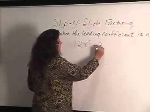 Slip And Slide Factoring Youtube