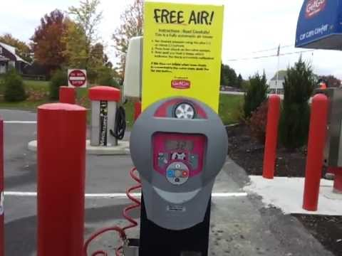 Fully Automated Tire Air Pump Free At Getgo Gas Stations Youtube