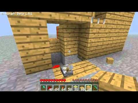 minecraft t ren mit pistons wunschtutorial 02 youtube. Black Bedroom Furniture Sets. Home Design Ideas