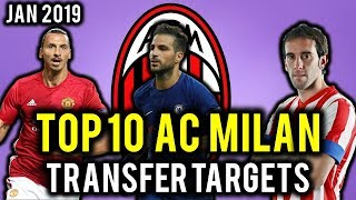 TRANSFER NEWS! TOP 10 AC Milan TRANSFER TARGETS January 2019 ft Ibrahimovic, Godin, Fabregas