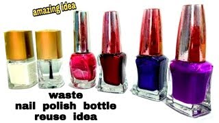DIY: Best out of Waste Nail Polish Bottle Craft Idea: Recycle idea
