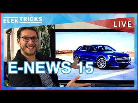 E-News #15 Elektroauto-Kaufprämie, Audi E-Auto Offensive, Smart, Tesla Engpässe, E-Autos Ökobilanz