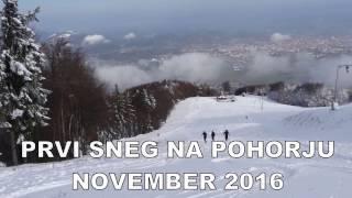 Prvi sneg na Pohorju november   2016