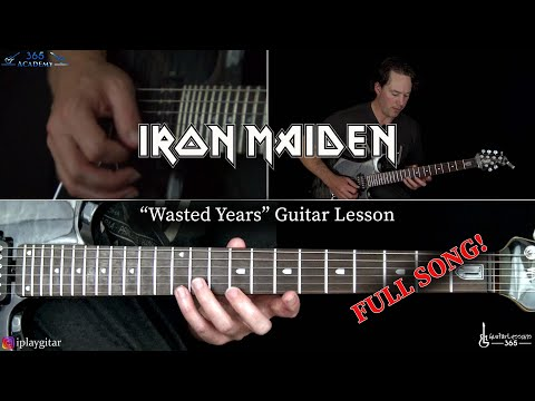 Wasted Years Guitar Lesson - Iron Maiden