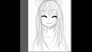 Speed drawing anime neko part 1