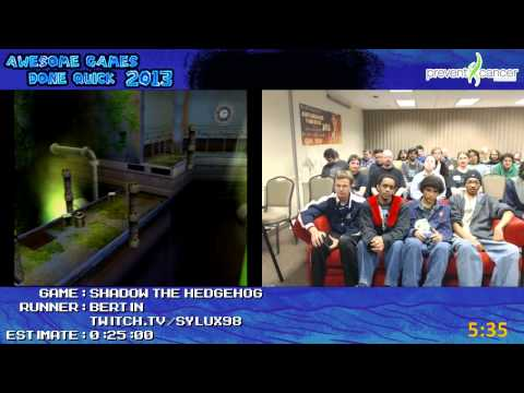 Shadow the Hedgehog - SPEED RUN in 0:18:17 (approx.) by bertin (Awesome Games Done Quick 2013) GCN