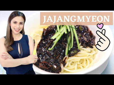 Jajangmyeon (Noodles in Black Bean Sauce)