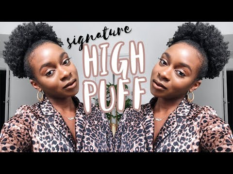 How To FAKE A High Puff With SHORT Natural Hair + How To Lay Thick Edges