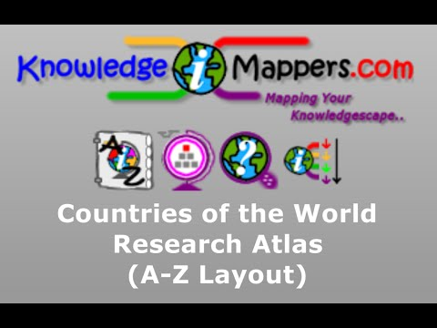 Countries of the World Research Atlas  (A-Z Layout)