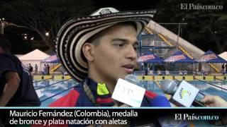 Juegos Mundiales: Natación con aletas le dio tres medallas a Colombia