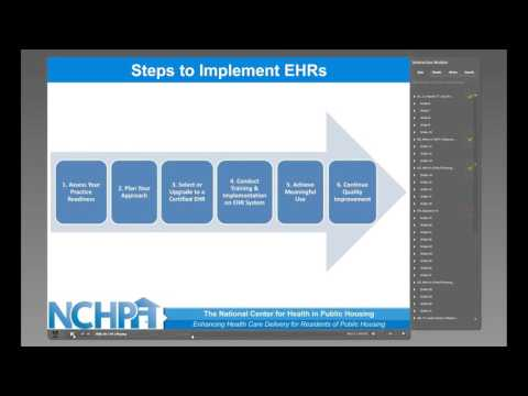 Electronic Health Records Training Module