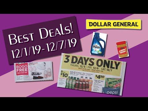 Best Deals at Dollar General! l Week of 12/1/19 - 12/7/19 l Dollar General Ad Review 🤩