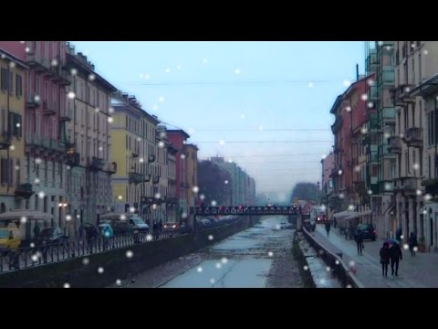 Nevicata sui Navigli a Milano Feb.2015 - Snowing on Canal