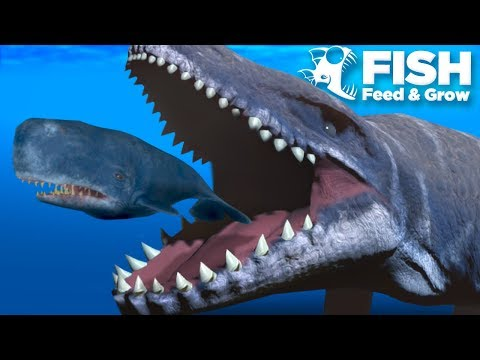 PLAYING AS THE MOSASAUR!!! - Fish Feed Grow