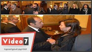 عمرو عرفة و و ساندرا و العدل و شيكو وعمرو سعد فى عزاء شقيقة المنتج هشام عبد الخالق