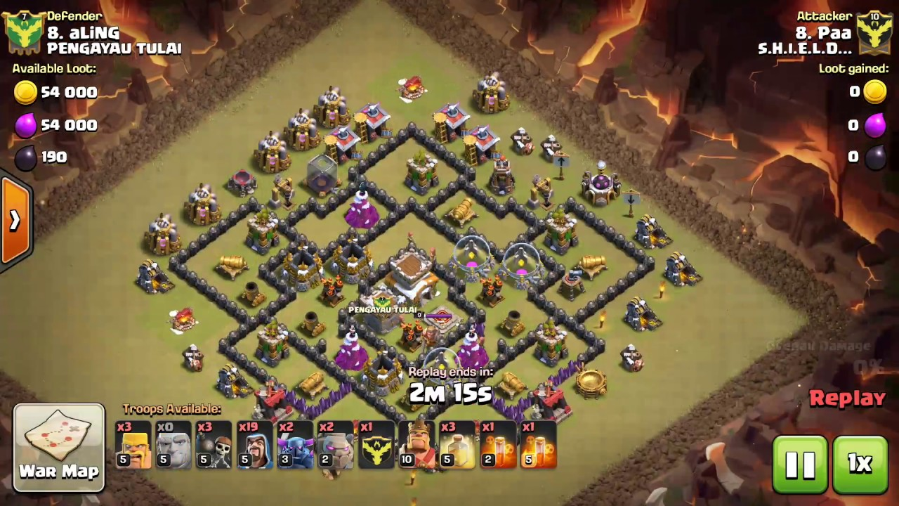 Clash of Clans: 3star war attack TH8 Vs TH8 ground attack (GOwiPe)